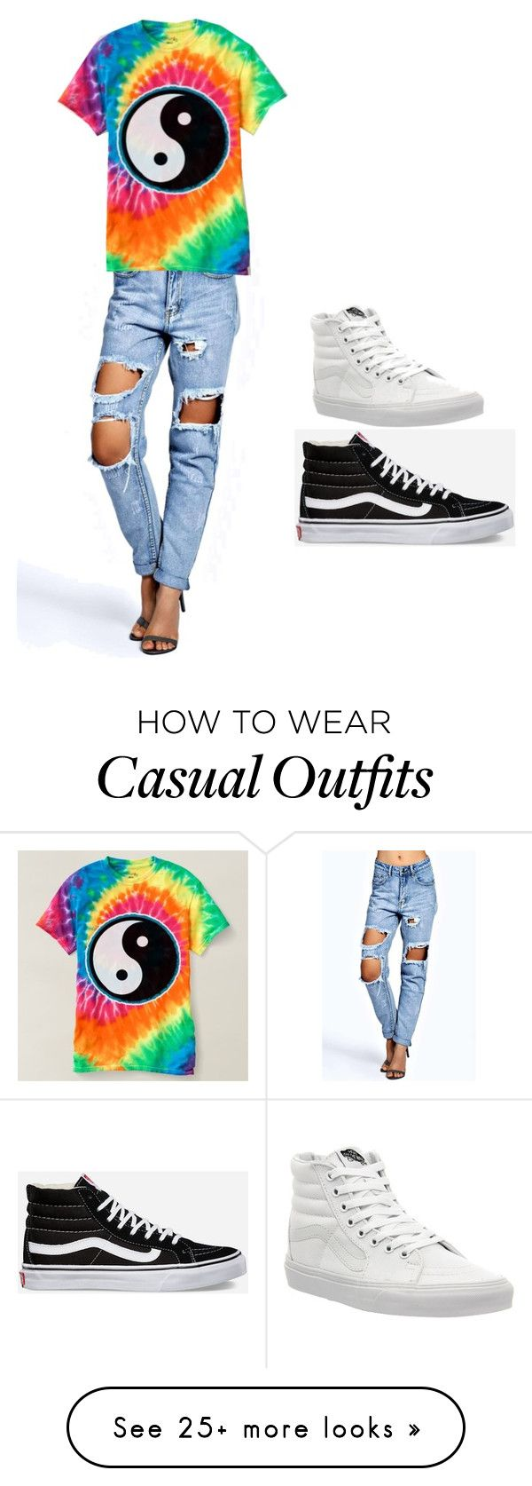 """""""Casual"""" by jada-hamilton on Polyvore featuring Boohoo and Vans"""