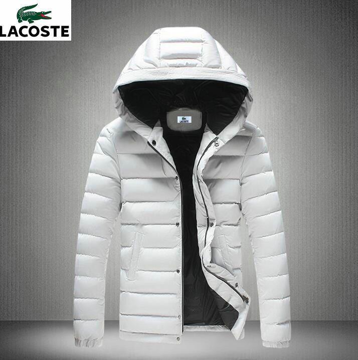 49825a840a doudoune a capuche lacoste,Nouvelle Arrivee Doudoune Homme Lacoste Veste  Chaud coton manteau casual capuche vestes bleu