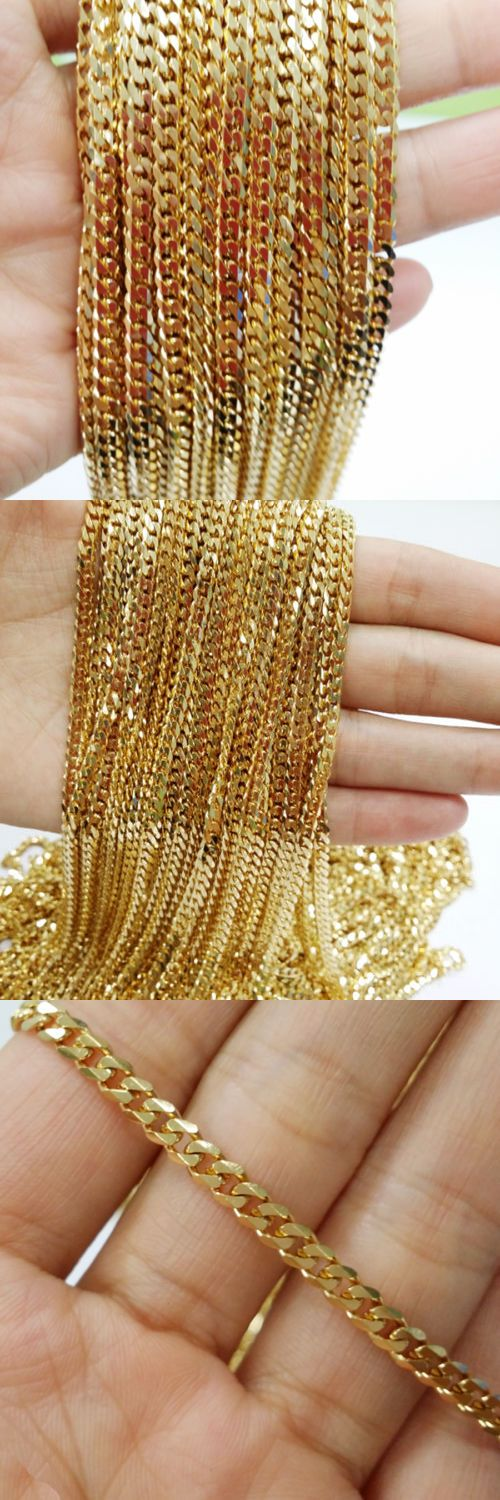 Chains 10322: 5 10 20 Meters Wholesale 5Mm 18K Gold Plated Stainless Steel Chain Mens Necklace -> BUY IT NOW ONLY: $52.64 on eBay!