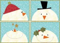 Snowmen Placemats   Quilt Patterns & Blocks   Angie's Bits 'n Pieces