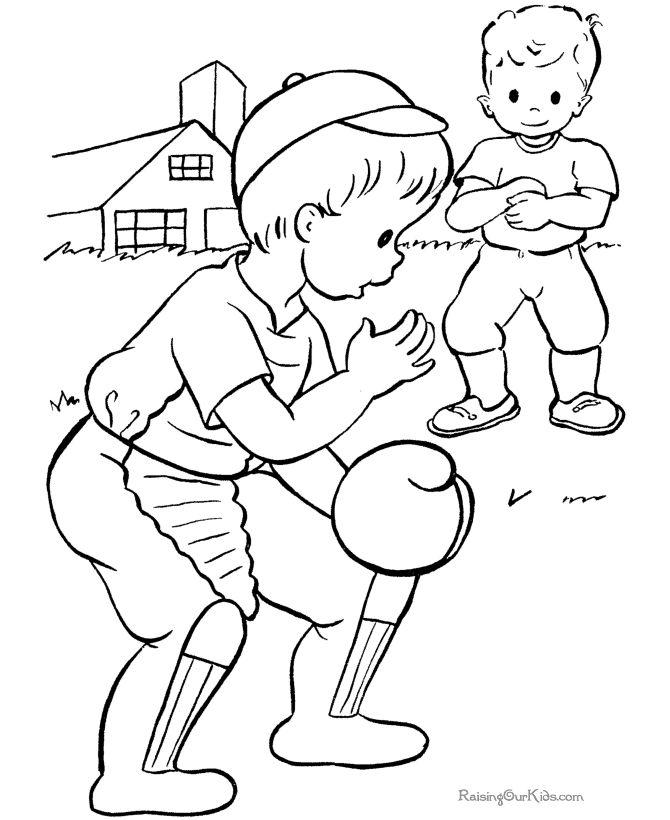 Baseball Coloring Sheets To Print Baseball Coloring