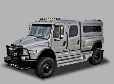 When you're paranoid about your family's safety, like to waste petroleum, and you think a Hummer HUMVEE isn't big enough. Freightliner Sportchassis P4XL $150000-$250000