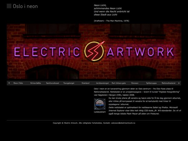 Electric Artwork by Petter Andresen, via Behance