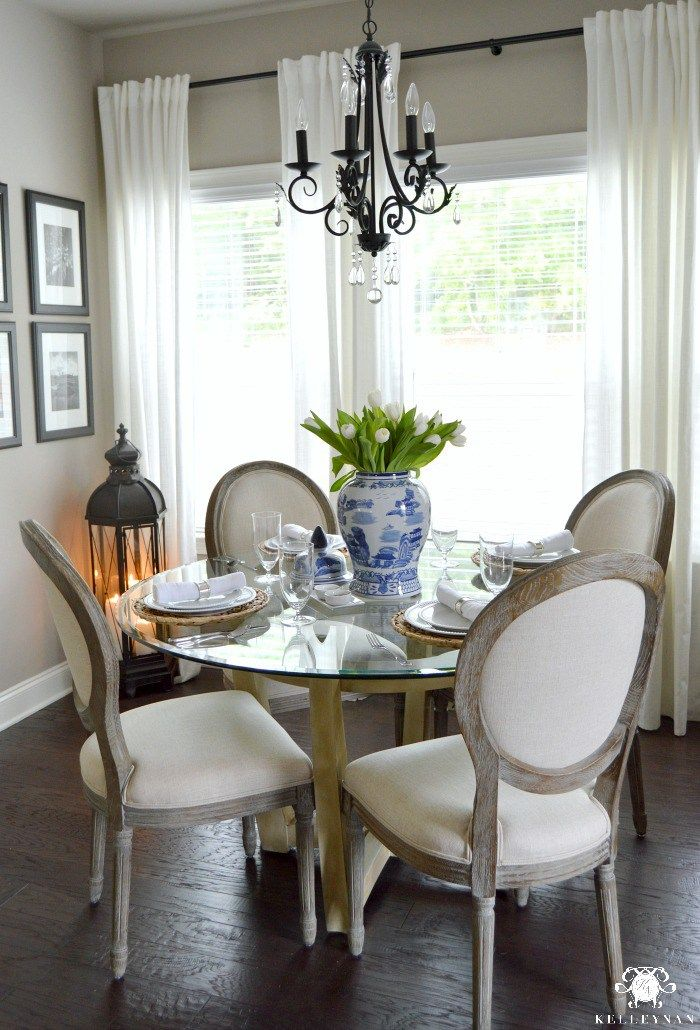 a casual everyday table setting and a reinstated tradition - Dining Room Table Settings