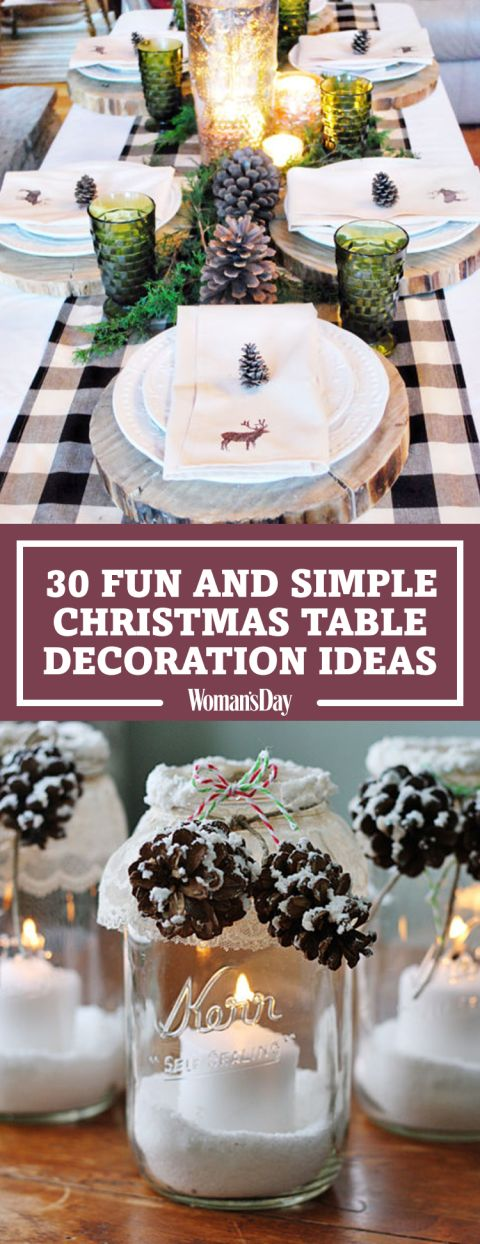 Save these Christmas table decoration ideas for later by pinning this image and follow Woman's Day on Pinterest for more.