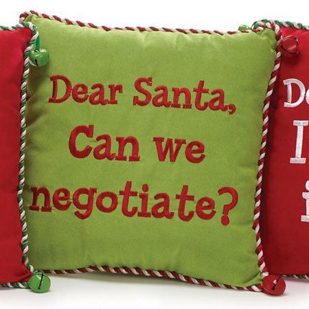 Dear Santa Message Decorative Pillows