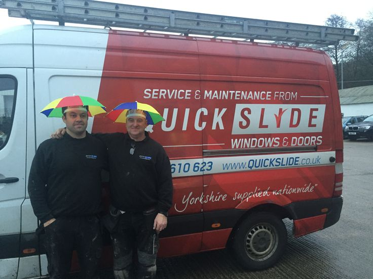 No matter the weather we still deliver and install! These two #Quickslide fellows have found a stylish way to stay dry! Have a lovely #rainy Thursday everyone! #Windows #Doors