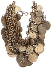 Wunderkind - coin detail brass necklace