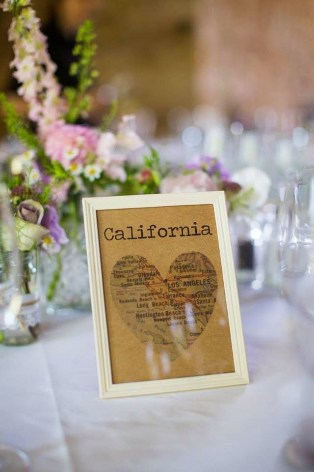 Roses and Rolltops : Wedding - DIY Map Heart Table Names and Plan