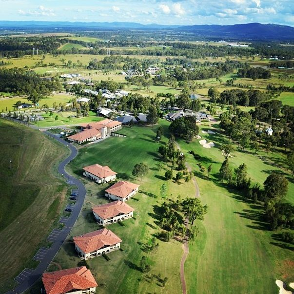 Aerial of Chateau Elan at The Vintage  #ChateauElan #Hunter Valley #Australia #Luxury #Hotel #5star #TheVintage
