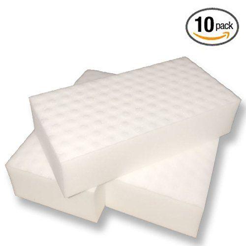 Magic Melamine Foam Eraser Sponge, 2X Concentrated Formula, X-Large Size (10 Pack)