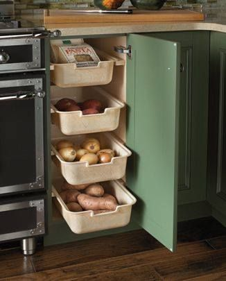 This is a great idea for your vegies source -http://www.kitchendesigns.com/design_details.html