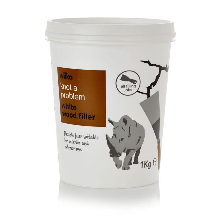 Wilko Flexible Wood Filler Flexible Ready Mix White 1kg