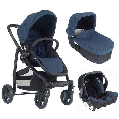 Accesorii bebelusi :: Carucioare copii :: Carucioare 3 in 1 :: Carucior Evo 3 in 1 Navy cu SnugFix Graco