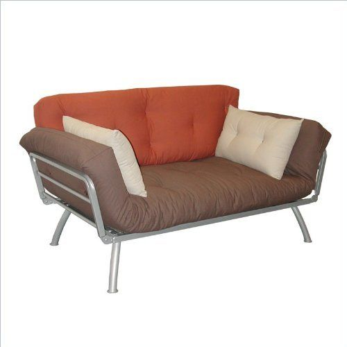 Plank,Dusk,Stone Elite Products Mali Convertible Twin Futon with Silver Metal Frame by Elite Products. $202.79. Some assembly may be required. Please see product details.. The Mali is a twin size futon with innovative capabilities. Each side has six positional wings that can form the Mali into a sofa, lounger and sleeper. Custom cushions and pillows decorate the Mali while offering superior comfort. This futon sofa is the perfect addition to a home, office, do...