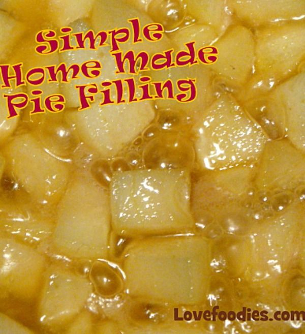 How To Make A Simple Fruit Pie Filling, 2 recipes, one for regular filling and one for a CARAMEL filling. Both very delicious for sure! #homemade #pie #filling #dessert #sweet #caramel #fruit
