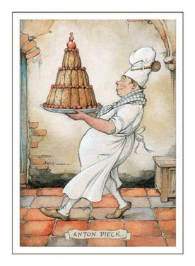 Bakker draagt enorme taart- Greetz