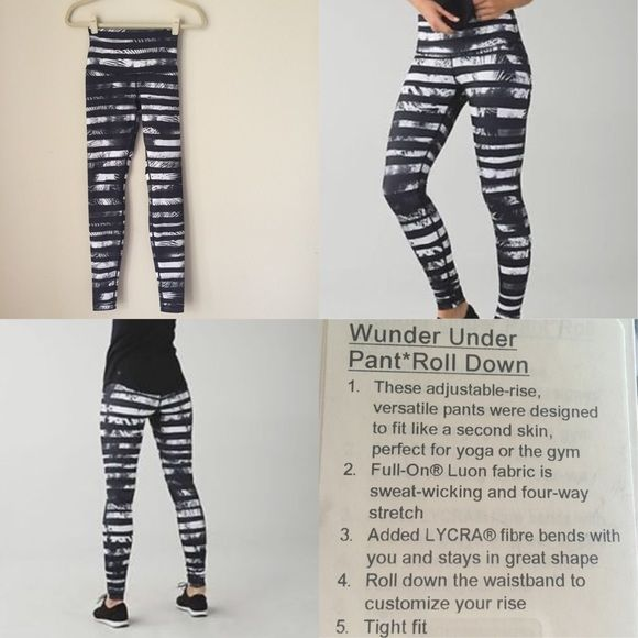 NWT WUNDER UNDER PANT* ROLL DOWN ADJUSTABLE-RISE, VERSATILE-DESIGNED TO FIT LIKE A SECOND SKIN, PERFECT FOR YOGA OR  GYM FULL-ON LUON FABRIC IS SWEAT-WICKING & 4-WAY STRETCH LYCRA FIBRE BENDS WITH YOU & STAYS IN GREAT SHAPE ROLL DOWN WAISTBAND/CUSTOMIZE RISE I've already priced this far lower than anyone else I've found.  ❗️RETAILS FOR $98 but most are selling for $110-$140! ❌NO TRADES! lululemon athletica Pants Leggings
