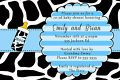 30 Invitations Cow Baby Boy Shower Bl...