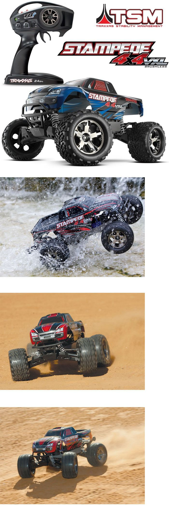 Cars trucks and motorcycles 182183 traxxas 67086 4 stampede 4x4 vxl brushless rtr truck