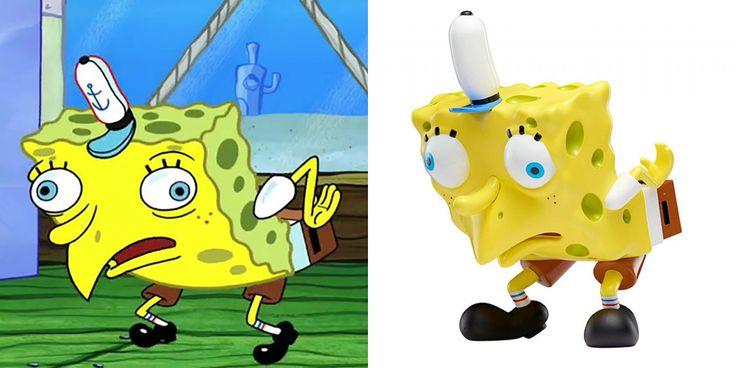 Pour les 20 ans de Bob l'Éponge, Nickelodeon crée 5 figurines inspirées des mèmes célèbres