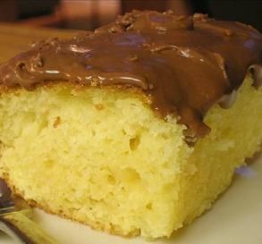 """Sour Cream Yellow Cake: """"Better than homemade! This cake didn't taste like a mix at all. It's very moist and flavorful!"""" -Madefromscratch"""
