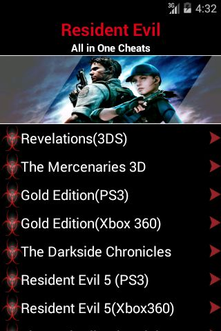 The NEWEST Resident Evil Guide.<p>Master the game today! <p>Resident Evil Includes Guide for all in One..<br> --> Revelations(3DS)<br> --> The Mercenaries 3D<br> --> Gold Edition(PS3)<br> --> Gold Edition(Xbox 360)<br> --> Resident Evil 2 & 3<br> --> Survivor 2 (PS2) and many more..<p>This is the BEST GUIDE for any Resident Evil game fan. This guide shows you a full walkthrough, tips, strategies, & MORE. http://Mobogenie.com