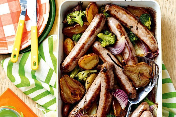 Sausage and maple pear bake