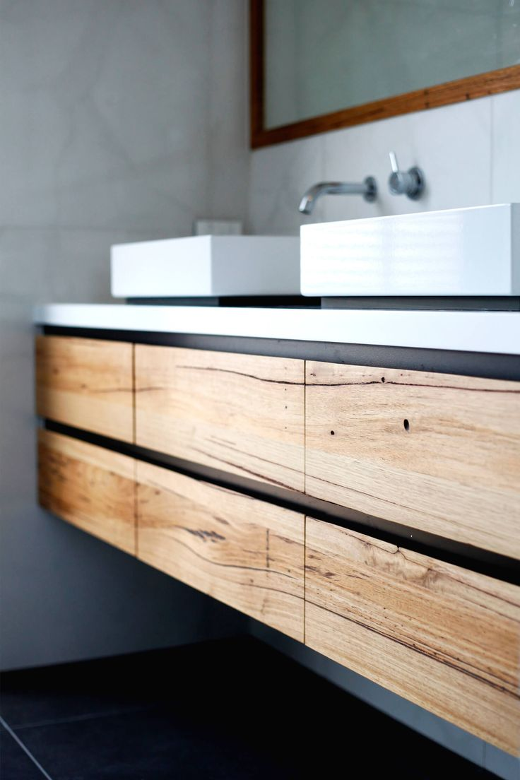solid natural wood vanity, custom. est living denfair discovery interview fred kimell. vanity by bombora custom furniture