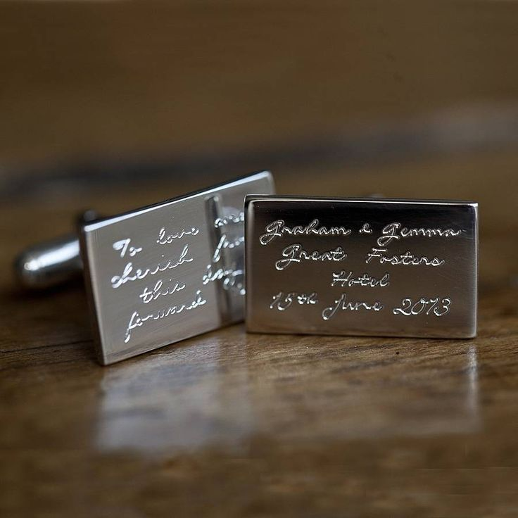 Personalised Engraved Message Cufflinks