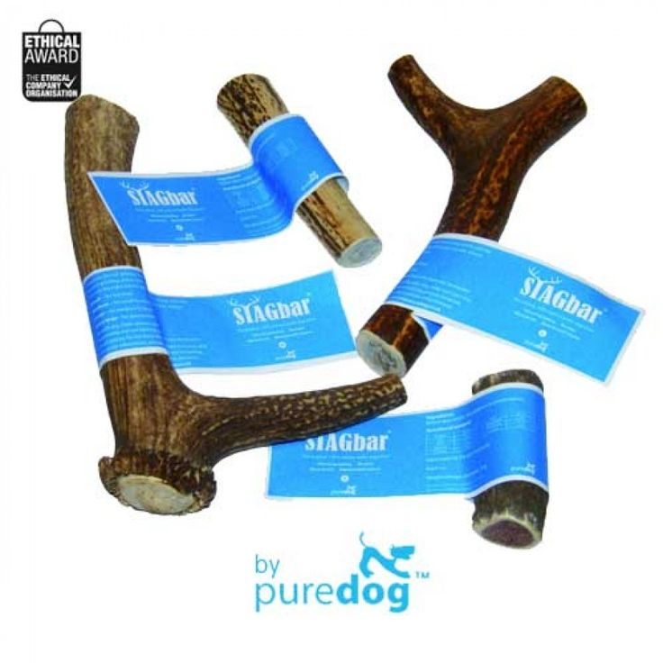 Stagbar Antler Dog Chews by Puredog (4 Sizes!)  Link: http://www.olliespetboutique.com/stagbar-antler-dog-chews-by-puredog-4-sizes