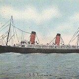 Postal oficial del barco de Cunard Line