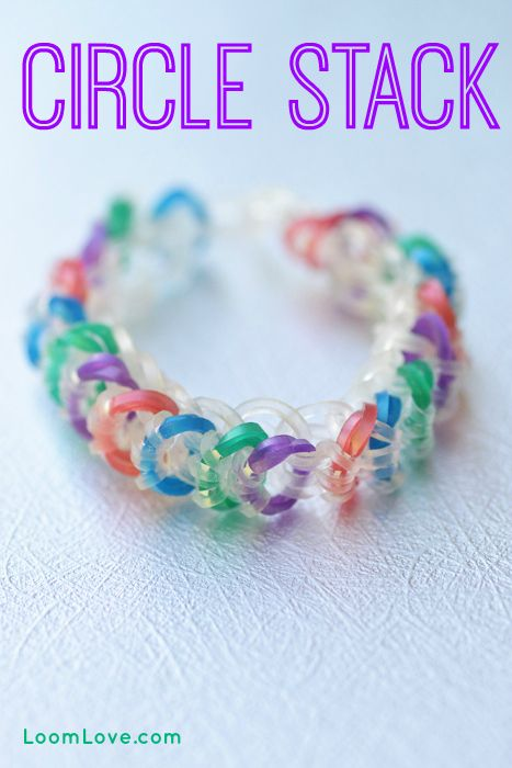 How to Make a Circle Stack Bracelet -  Rainbow Loom Video Tutorial