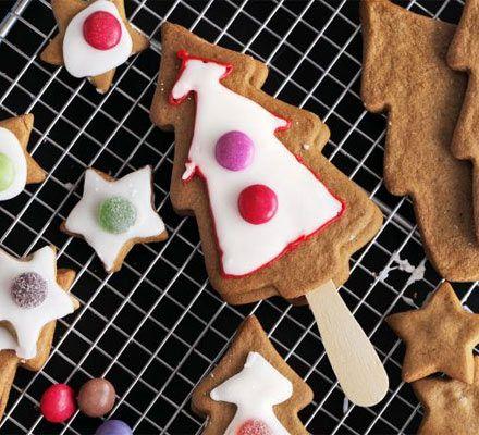Spiced & iced Christmas trees | BBC Good Food
