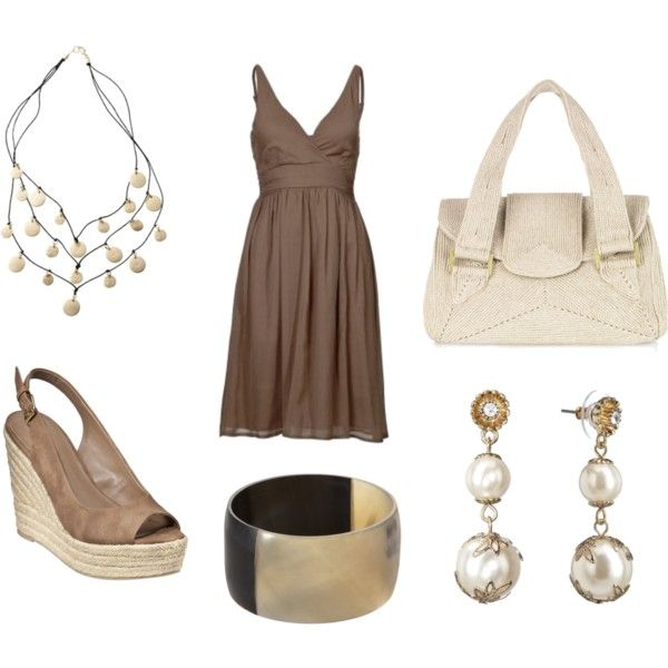 Outfit: Club Dresses, Brown Dresses, Outfits R, Fashion Style, Pearls Outfits, Summer Outfits, Dresses Outfits, The Dresses, My Style