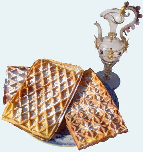 Wafer and waffle irons and a bit of history. Receipts, too.