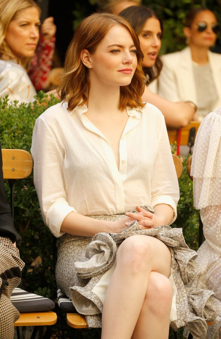 Emma Stone - CFDA/Vogue Fashion Fund Show and Tea in Beverly Hils - 10/26/16
