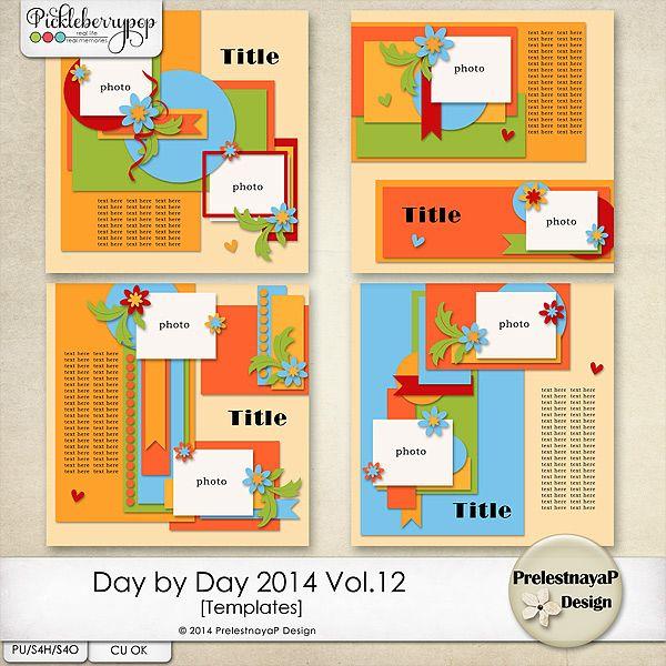 Day by Day 2014 Vol.12 Templates by PrelestnayaP Design