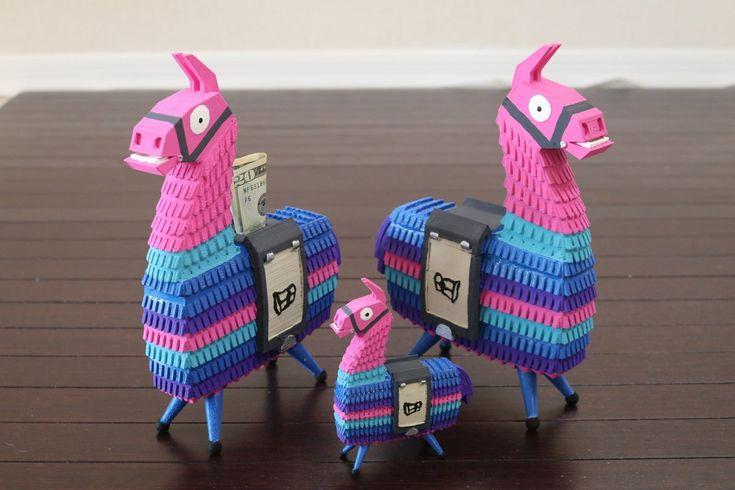 Llama pinata battle royale 3d printed toybankcake topper