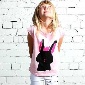 Minti Bunny Queen Drape Tee - Ballet/Grey Preorder now at www.ragamuffins.co.nz