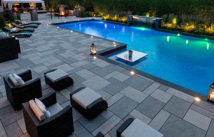 Luxury Ideas For Outdoor Living And Patio Pools Pool Patio Designs Pool Landscaping Backyard Pool Landscaping