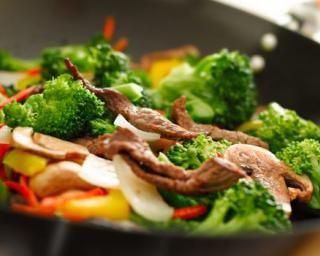 Wok de boeuf & de légumes aux noix de cajou