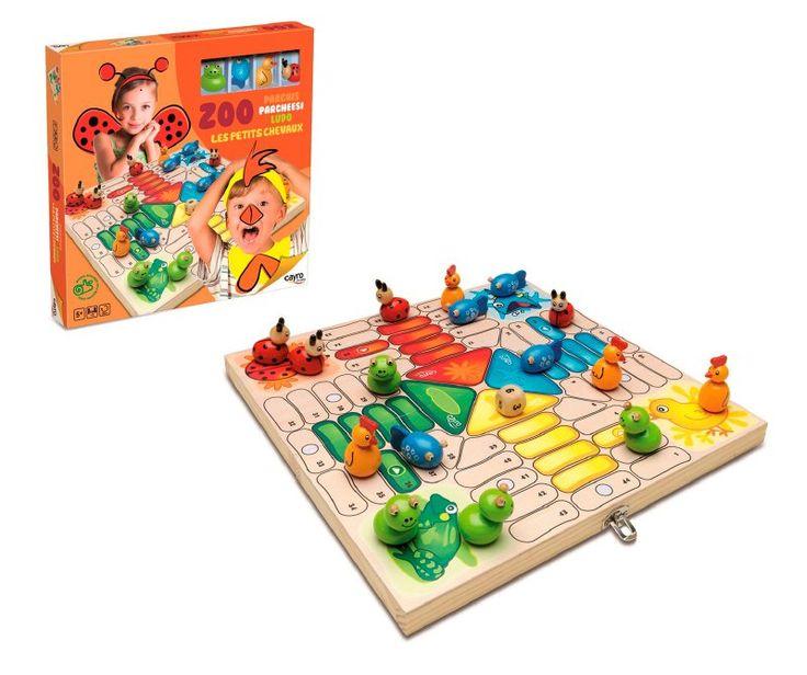 Lindo Ludo Zoo, para niños desde los 5 años, es una versión más sencilla para iniciar a los pequeños en éste fantástico y entretenido juego, sus piezas son formas de animalitos.