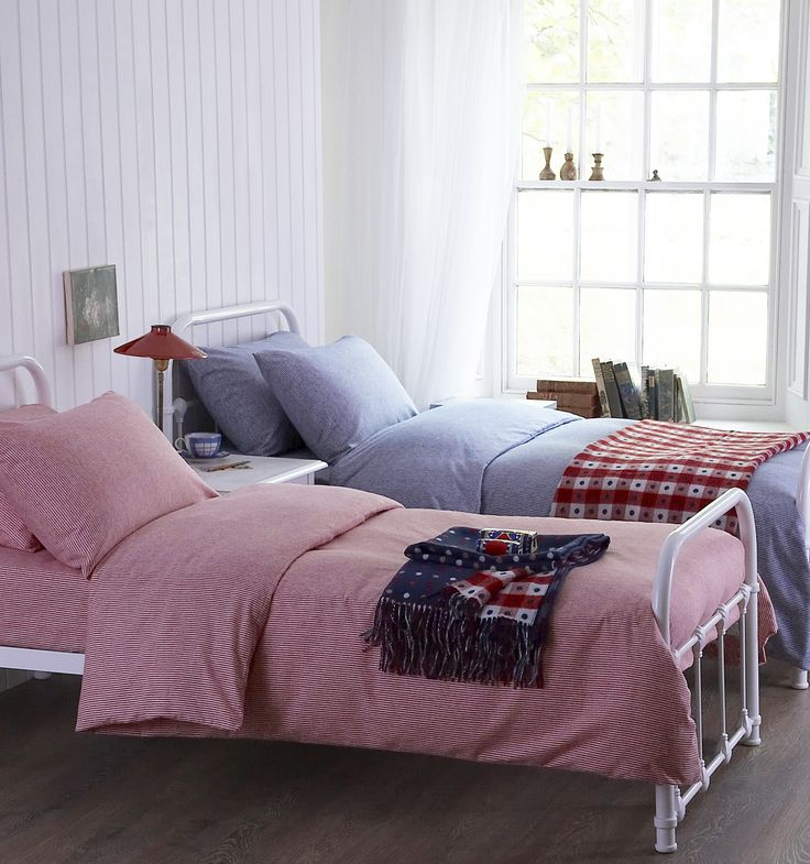 Chamonix cotton flannelette bed linen from Cologne & Cotton would be great for Henry