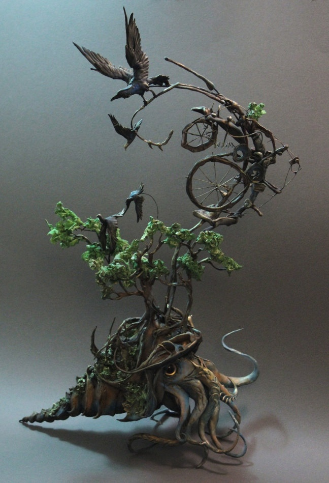 the cephalopod and the raven by creaturesfromel on Etsy. $435.00, via Etsy.