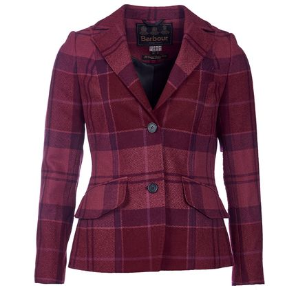 BARBOUR NEBIT TAILORED JACKET  The Nebit Tailored Jacket is a flattering, fitted women's blazer crafted in 100% wool.