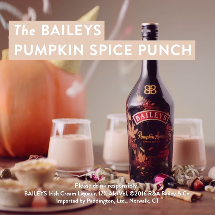 Reach for limited edition Baileys Pumpkin Spice this fall. This seasonal liqueur combines the fall flavors of sweet cinnamon, rich maple, brown sugar, and baked pie crust with hints of vanilla and coffee. If you're hosting a holiday party, this punch recipe can be your go-to drink from Halloween to Thanksgiving! Making Baileys Pumpkin Spice Punch is easy, just follow the recipe above and serve! Don't forget to rim glasses with sugar for an added treat before serving over ice.