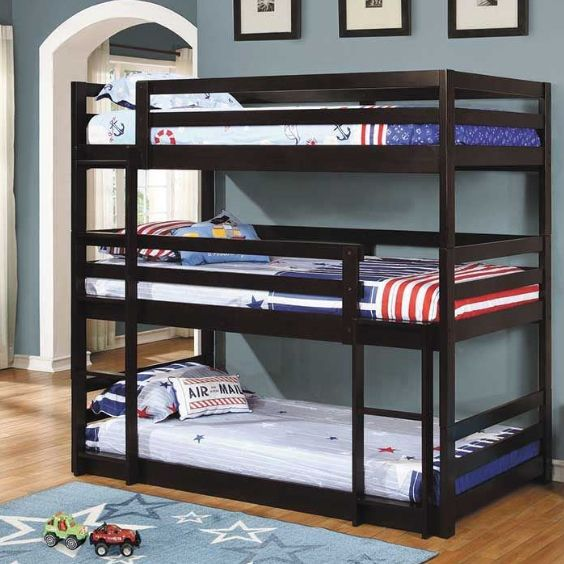 The 3-tierbunk bed is perfect for small spaces!