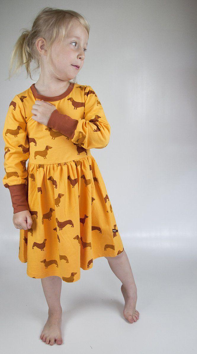 MOROMINI organic cotton dress WIENER DOG