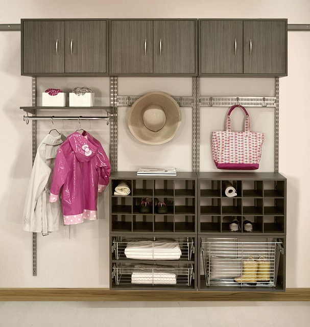 Great idea for the garage mud room
